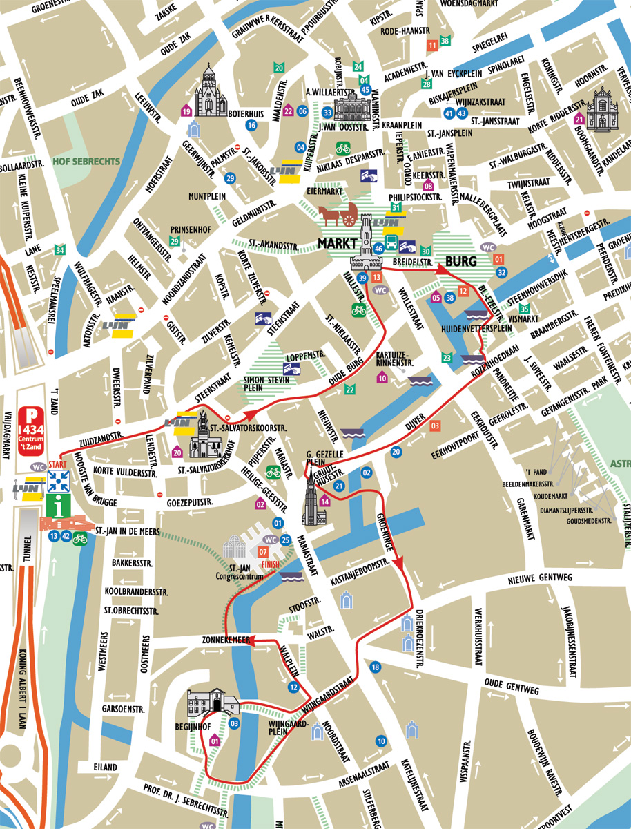 brugge tourist map bruges maps top tourist attractions free